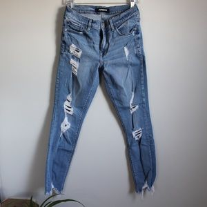 Distressed Express Skinny Jeans